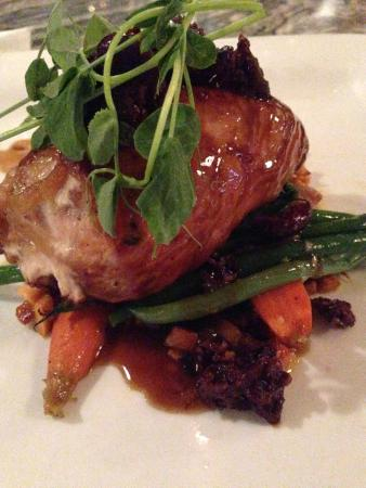 Mezzaluna: Pheasant breast with sweet potato hash