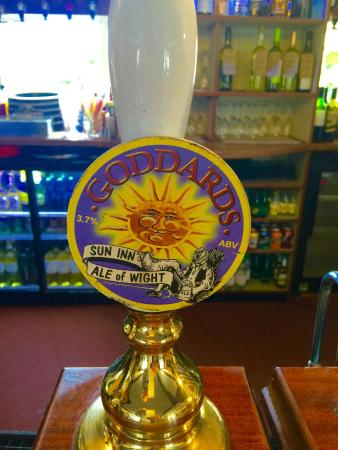 The Sun Inn: Fantastic midday ale from Goddard's Brewery.