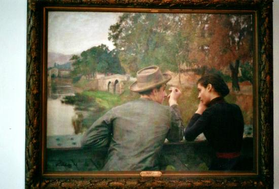 Musée des Beaux-Arts de Nancy: Les amoureux by Emile Friant 1888