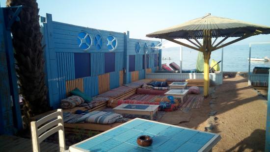 El Primo Hotel Dahab: Playa privada, zona chillout
