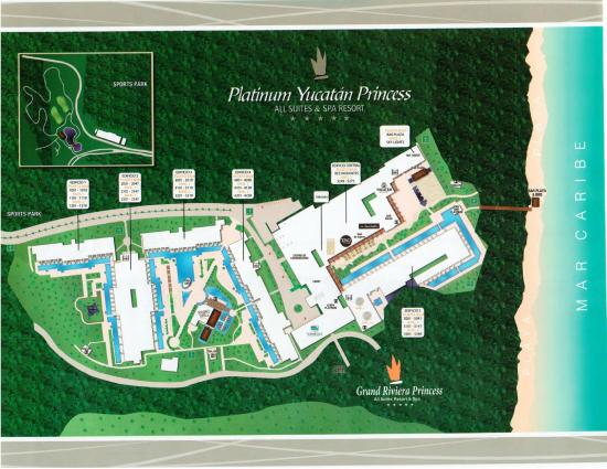 Ground map of Platinum Yucatan Princess 8/15 - Playa del Carmen ...