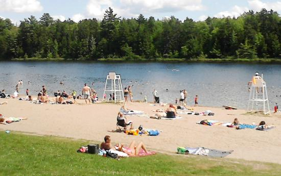 Fredericton, Canadá: Beach at Killarney Lake