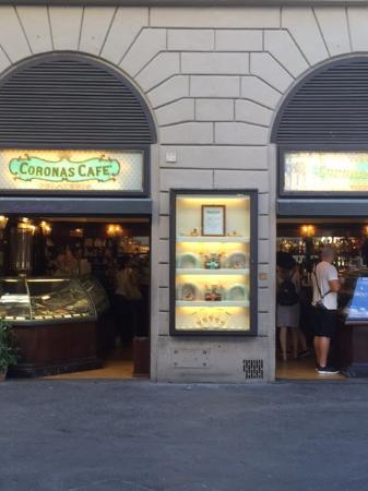 Coronas cafe facade