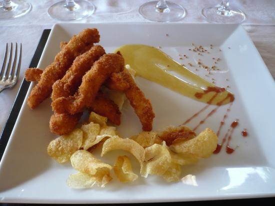 Melia Buenavista: Dinner - Chicken Fingers & Potato Chips