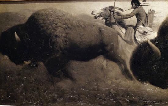 The Rockwell Museum: Buffalo Hunt circa 1915