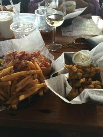 The Lobster Trap Fish Market and Restaurant: Lobster roll and small ...