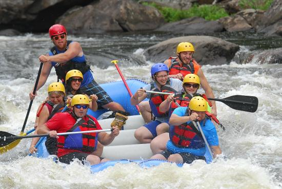 Warrensburg, NY: Hitting the rapids!!!