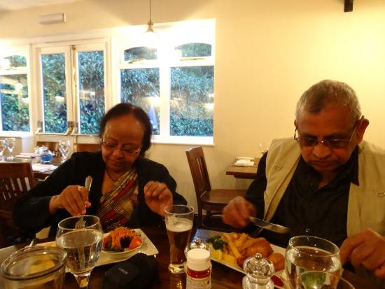 The Lobster Pot: My parents enjoying their meal