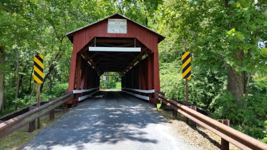 Catawissa, Pensilvania: Covered Bridge over Roaring Creek