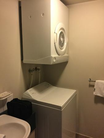 Crown on Cintra Lane: Wow, full size washer and dryer in the room