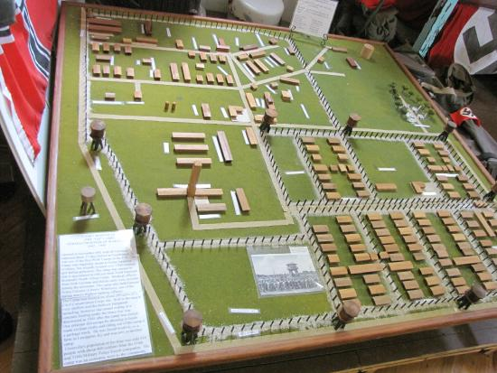 A diorama of the WWII POW camp that was in Crossville  - Picture of