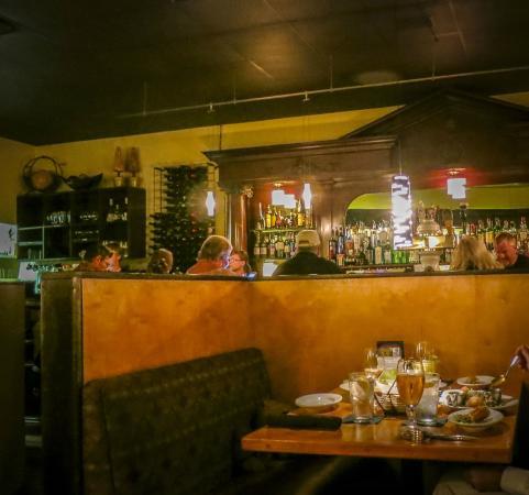 Ken & Sue's booth & antique bar