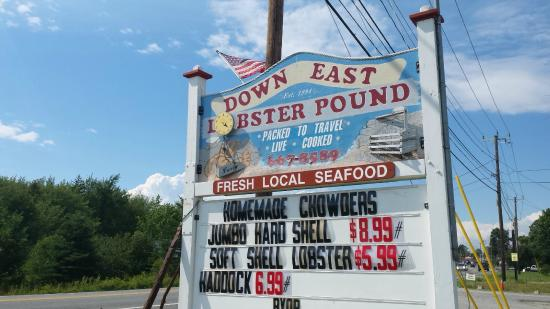 Down East Lobster Company: look for the Lobster Pound