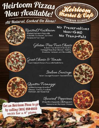 Thomson, IL: Heirloom Pizzas now available