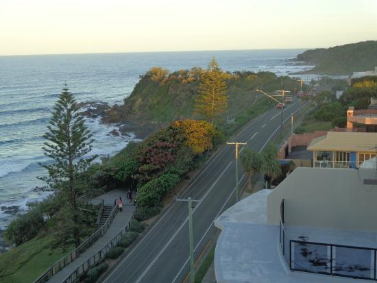 Clubb Coolum Beach: View from our apartment, looking south