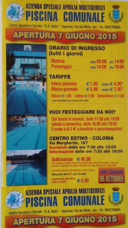 Aprilia, Italy: Locandina