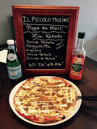 Il Piccolo Mulino : Pizza du mois d'août