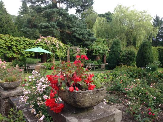 Lastingham Grange: The garden from the terrace