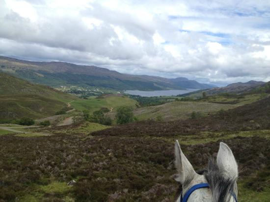 Dores, UK: Trail ride above Fort Augustus