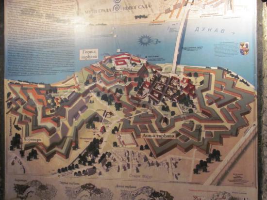 Mapa Tvrdjave Izobrazhenie Petrovaradin Fortress Petrovaradin