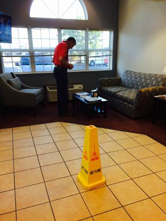 Microtel Inn & Suites by Wyndham Seneca Falls: Cone in reception rea