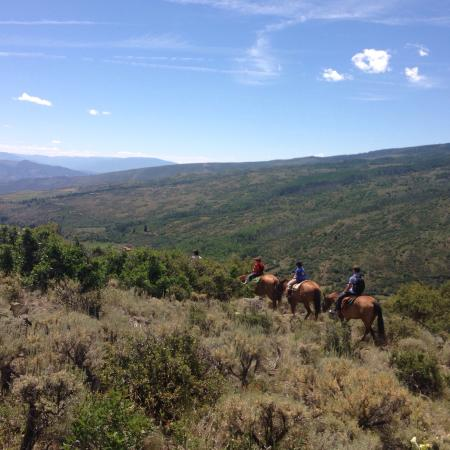 Gypsum, CO: Trail ride