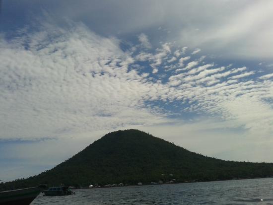 Maitara Island, Indonesien: pulau maitara diambil dari dalam speed boat tidore - ternate