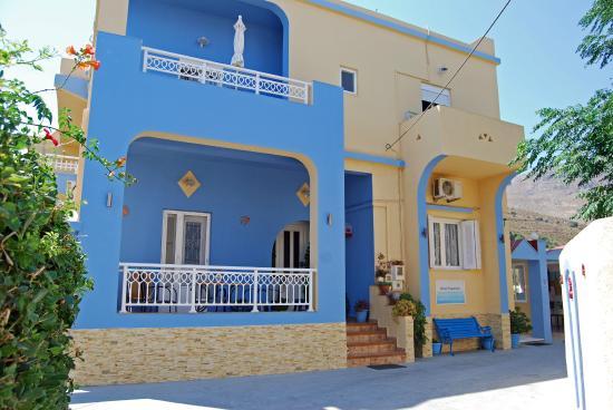 Hotel Papafotis : la maison du propriétaire et les appartements