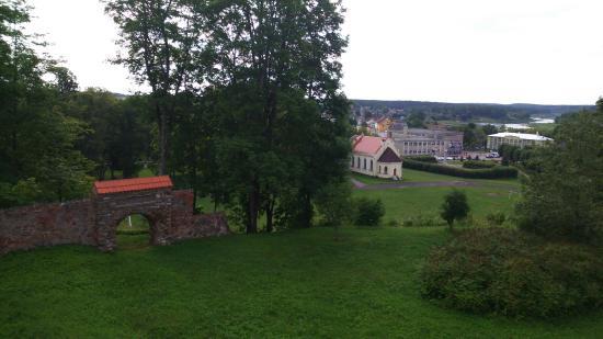 Kraslava, Lettland: Панорамный вид на Краславу и Даугаву