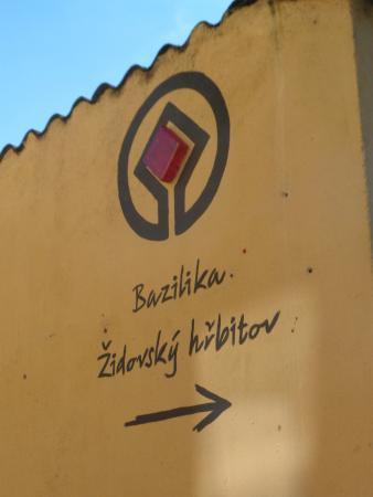 Trebic Shtetl: UNESCO sign