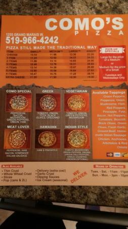 Como's Pizza