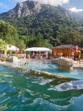 Piscine vue montagne photo de camping les oliviers for Camping montagne avec piscine