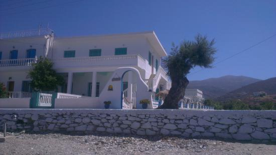 View of Pension Titika from the beach