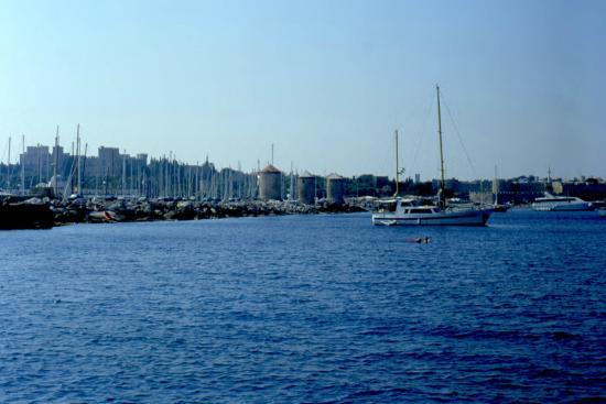 Mandraki Harbour - Picture of Mandraki Harbour, Rhodes ...