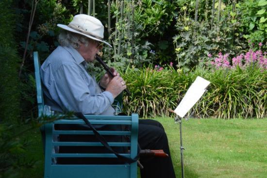 Renishaw, UK: Musician playing recorder