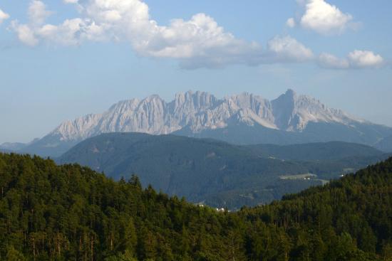 Hotel am Hang: Aussicht: Dolomiten