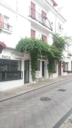 Hostal Paco: outside in the morning, when all is quiet