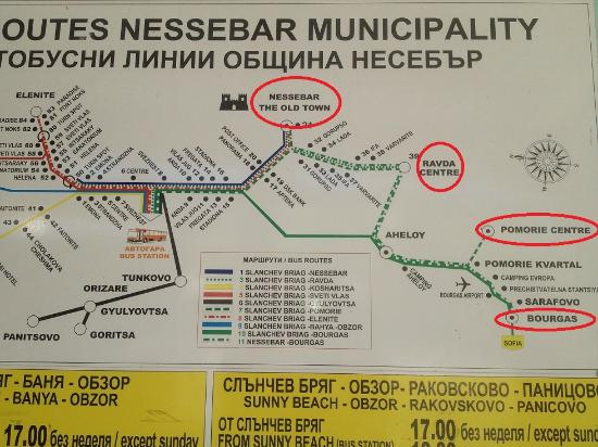 bus station map in sunny beach Picture of DIT Majestic Beach