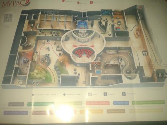 Detalle plano distribución del museo - Picture of Museo de Prehistoria y Arqu...