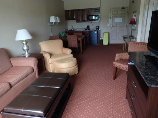 Holiday Inn Hotel & Suites Council Bluffs-I-29: Lounge area in room.