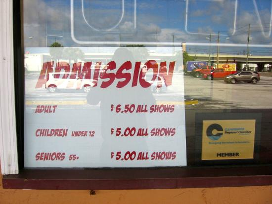 Clearwater Cinema Cafe: 2015 Prices