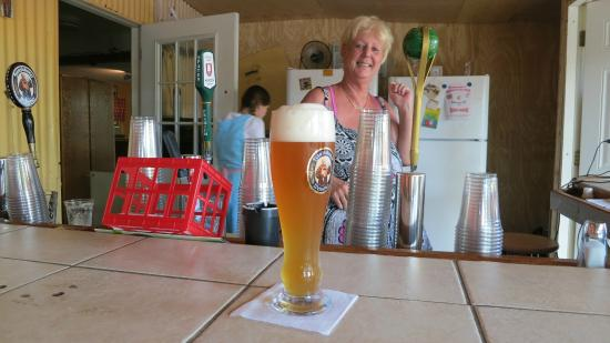 Schneider's German Gasthaus & Beergarden: Wheat Beer...AWESOME with Ursula (owner) Serving