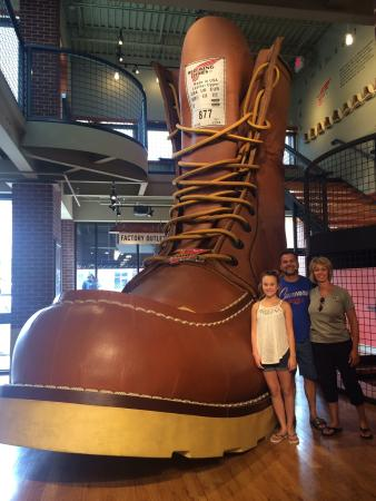 Red Wing Shoes Boot - Picture of Red Wing Shoe Store & Museum, Red ...