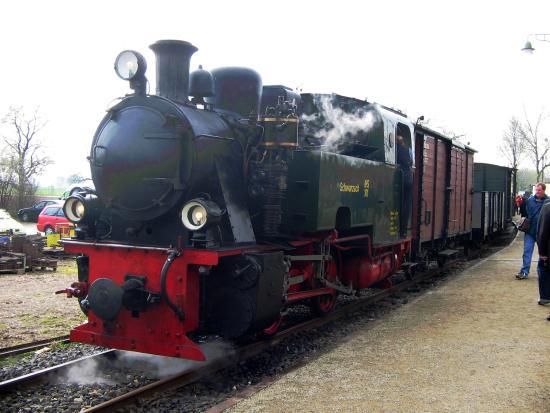 Geilenkirchen, Duitsland: Eine der historischen Lokomotiven
