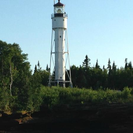 Harbor's Edge Motel: Lighthouse on the Apostle Islands National Lakeshore