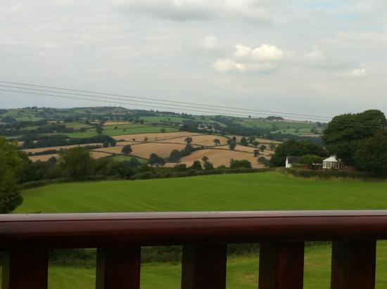 Turnditch, UK: View from the terrace.