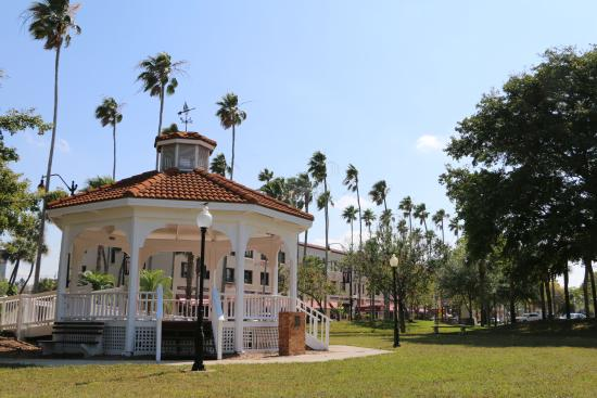 The gazebo at Centennial Park in downtown Venice is the center of several local events.