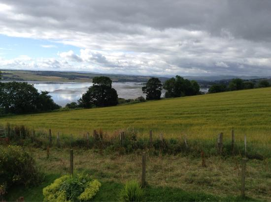 Highland Farm Cottages: Our stay and view from our cottage