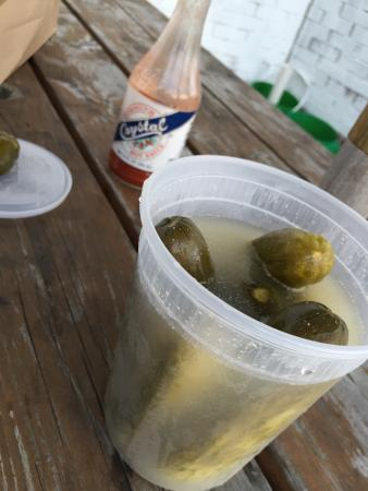 Po' Boys and Pickles: Sour pickles