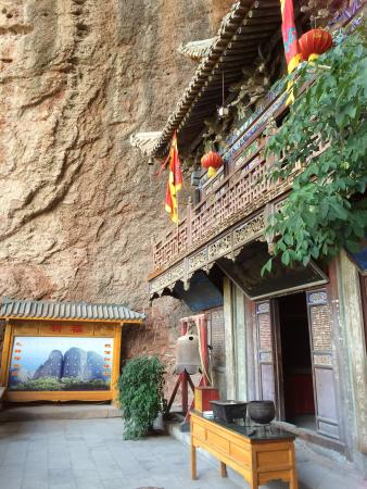 Wushan County, China: Water Curtain Cave Temple